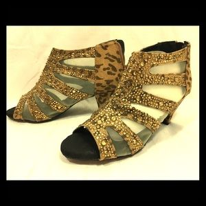 Joan Boyce Shoes / Leopard print w Sequins/ size 9